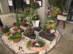 川島ライフデザインセンター寄せ植え作品展