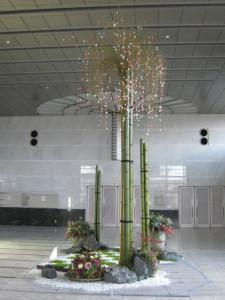 各務原市産業文化センター新春ディスプレー