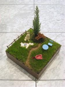 芝(パズルガーデン)を使って箱庭