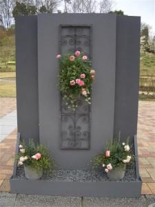 バラの寄せ植え 裏側