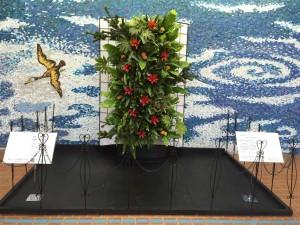 2015年【各務原市役所新春ディスプレイ】観葉植物を大胆に使ってフュージョンで壁面緑化