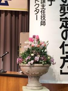 ステージ装花に春の寄せ植えギャザリング