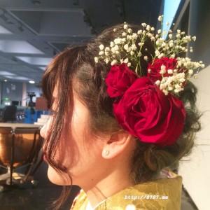 【卒業式の髪飾り】お客様からいただいたお写真